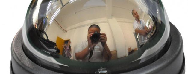 Beltéri, tükrös, EVC dóm kamera – asztali rögzítővel